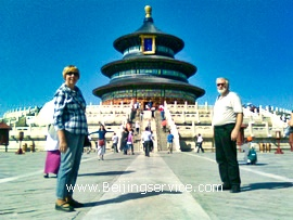 Travelers in Temple of Heaven